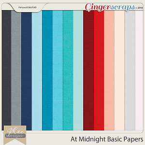 At Midnight Basic Papers by JoCee Designs