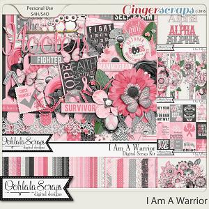 I Am A Warrior Digital Scrapbooking Collection