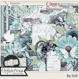 Be Still Digital Scrapbooking Kit
