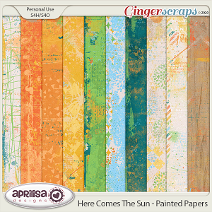 Here Comes The Sun - Painted Papers by Aprilisa Designs