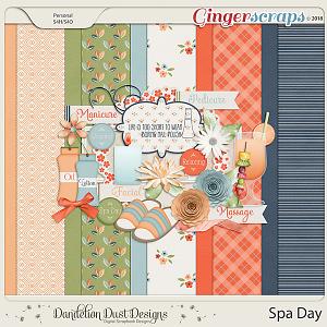 Spa Day Digital Scrapbook Kit By Dandelion Dust Designs