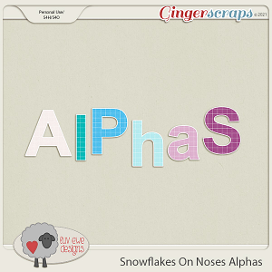 Snowflakes On Noses Alphas by Luv Ewe Designs