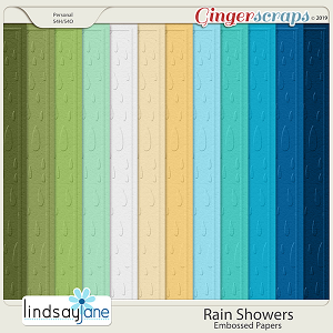 Rain Showers Embossed Papers by Lindsay Jane
