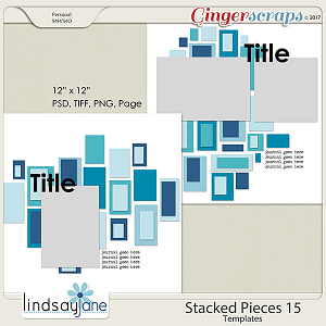 Stacked Pieces 15 Templates by Lindsay Jane