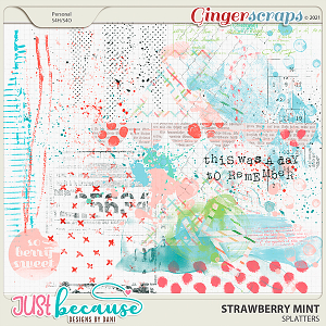 Strawberry Mint Splatters by JB Studio