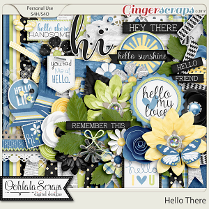 Hello There Digital Scrapbook Kit