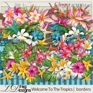 Welcome To The Tropics: Borders by LDragDesigns