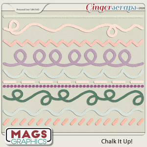 Chalk It Up CHALKED LINES by MagsGraphics
