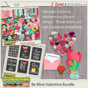 Be Mine Valentine Bundle by Clever Monkey Graphics