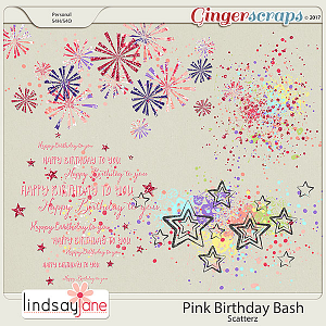 Pink Birthday Bash Scatterz by Lindsay Jane