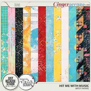 Hit Me With Music Artsy Papers by JB Studio and Neia Scraps