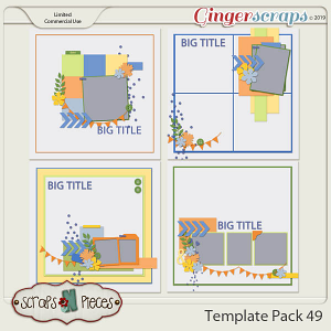 Template Pack 49 by Scraps N Pieces