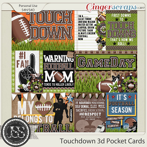 Touchdown 3d Pocket Scrap Cards