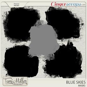 Blue Skies Masks by Tami Miller Designs