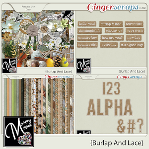 Burlap And Lace by Memory Mosaic