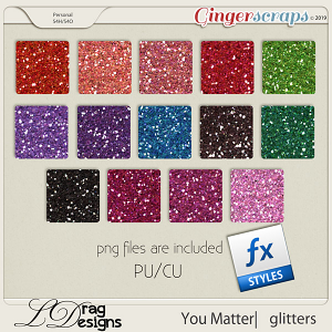 You Matter: Glitterstyles by LDragDesigns