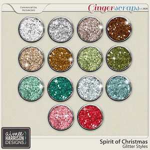 Spirit of Christmas Glitters by Aimee Harrison