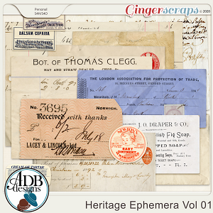Heritage Resource - Heritage Ephemera Vol 01 by ADB Designs