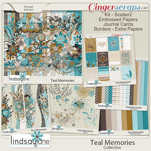 Teal Memories Collection by Lindsay Jane