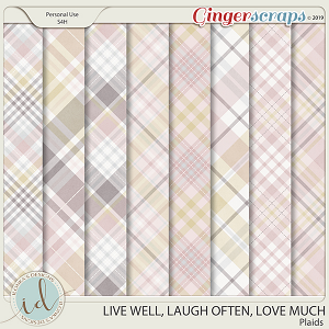 Live Well, Laugh Often, Love Much Plaids by Ilonka's Designs
