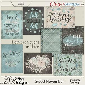 Sweet November: Journal Cards by LDragDesigns