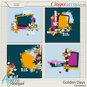 Golden days. Templates by Angelle Designs