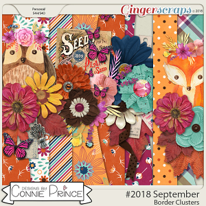 #2018 September - Border Clusters by Connie Prince