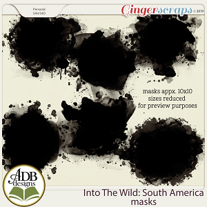 Into The Wild South America Masks by ADB Designs