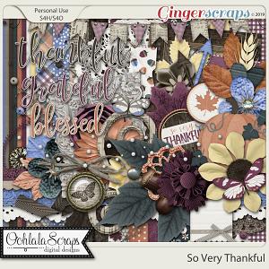 So Very Thankful Digital Scrapbook Kit