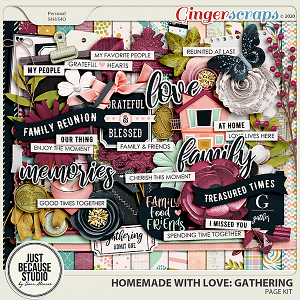 Homemade With Love: Gathering Page Kit by JB Studio