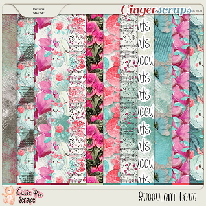 Succulent Love Background Papers