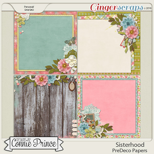 Sisterhood - PreDeco Papers