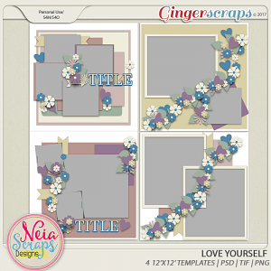 Love Yourself - Templates - By Neia Scraps
