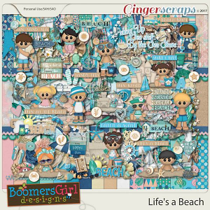 Life's a Beach by BoomersGirl Designs