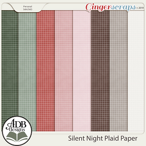 Silent Night Plaid Papers by ADB Designs