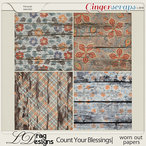 Count Your Blessings:Worn Out Papers by LDragDesigns