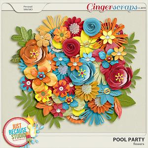 Pool Party Flowers by JB Studio