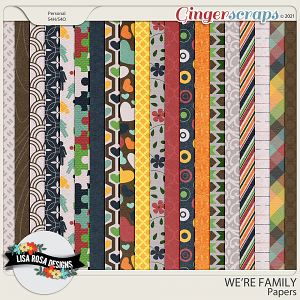 We're Family Papers by Lisa Rosa Designs