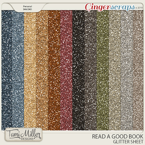 Read A Good Book Glitter Sheets