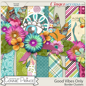 Good Vibes Only - Border Clusters by Connie Prince