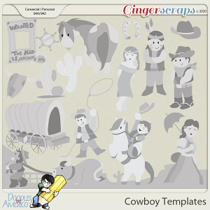Doodles By Americo: Cowboy Templates