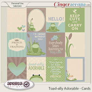 Toad-ally Adorable - Cards
