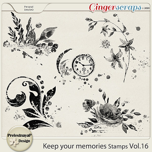 Keep your memories Stamps Vol.16