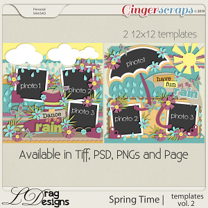 Spring Time: Templates Vol. 2 by LDragDesigns
