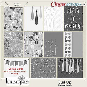 Suit Up Journal Cards by Lindsay Jane