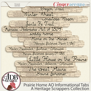 Prairie Home Add On Informational Tabs by ADB Designs