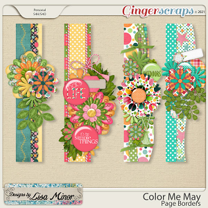 Color Me May Page Borders from Designs by Lisa Minor