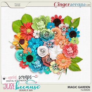 Magic Garden Flowers by JB Studio and Neia Scraps