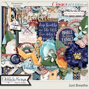 Just Breathe Digital Scrapbook Kit
