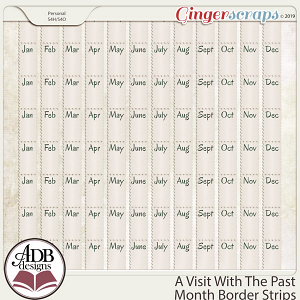 A Visit With The Past Month Border Strips by ADB Designs